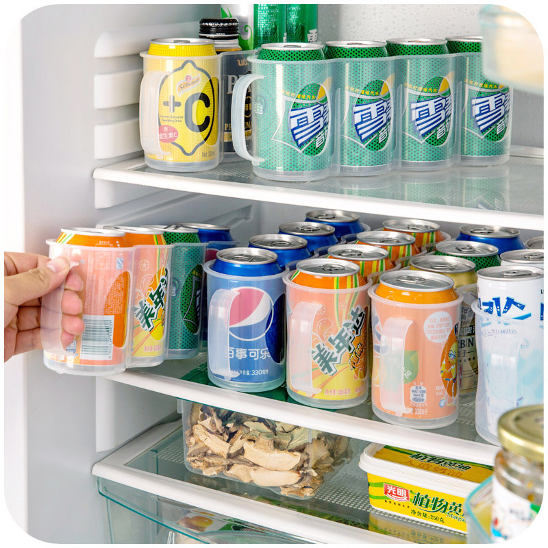 Aliexpress.com : Buy New Home Refrigerator Storage Box Kitchen Accessories  Coke Drink Can Space Saving Cans Finishing Frame 4 Storage Box Gadget From  ...