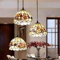 Европейский пасторальный Средиземноморский подвесной светильник с натуральным корпусом для ресторана
