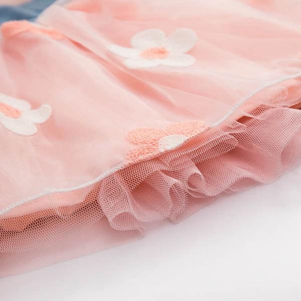 Summer Girls Cute Princess Dress Children Baby Kids Denim Shirt Tulle Tutu Dress Clothes 2-7T 18