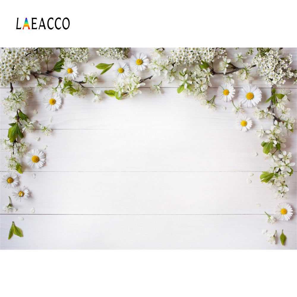 Laeacco Gray Wooden Board Flowers Petal Baby Doll Food Portrait Photo Backgrounds Photography Backdrops Photocall Photo Studio