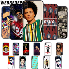 WEBBEDEPP Singer Bruno Mars Soft Case for iPhone 5 5S 6 6S 7 8 Plus X XS 11 Pro MAX XR Cover