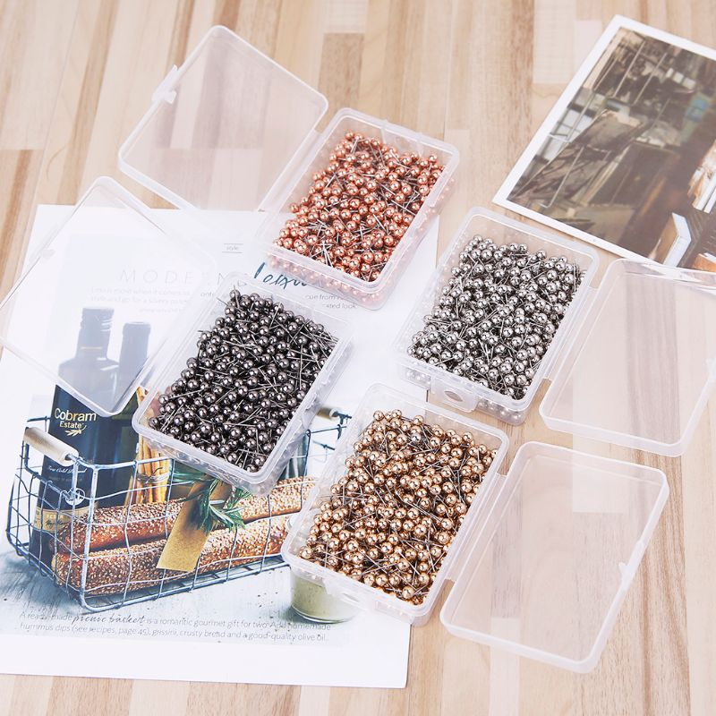 400pcs Sturdy And Durable Plastic Round Head Steel Point Push Pins DIY Map Thumb Tacks Pin Office School Supplies