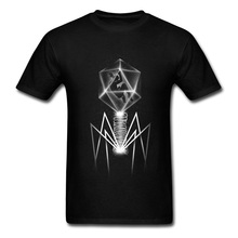 2018 Bacteriophage Design Stylish T-shirt For Man Short Sleeve Black Fashion Custom Father's Day Gift Tees Tops