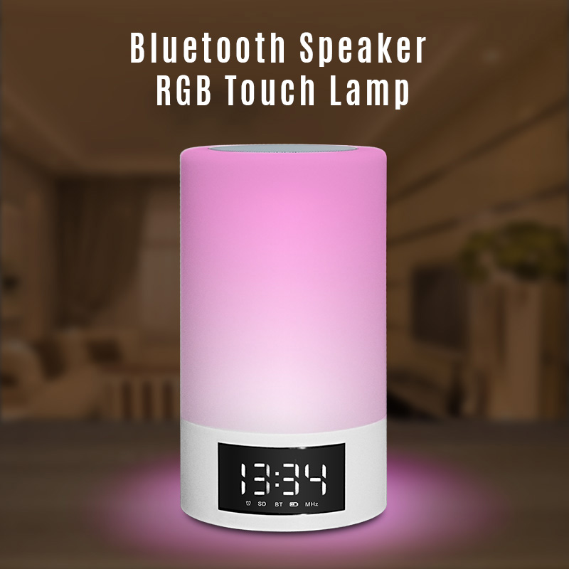 wholes Portable Bluetooth Wireless Speaker  Wireless Mini FM Radio Clock Alarm Bluetooth Speaker with LED Time Display TF Reader kubei 290 wireless bluetooth v3 0 speaker w fm radio black