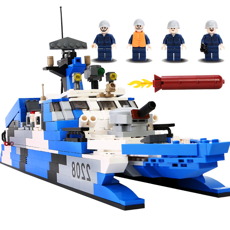 GUDI Military Educational Building Blocks Toy For Children Gifts Army Ship Navy Frigate Soldier Compatible Legoe enlighten building blocks navy frigate ship assembling building blocks military series blocks girls