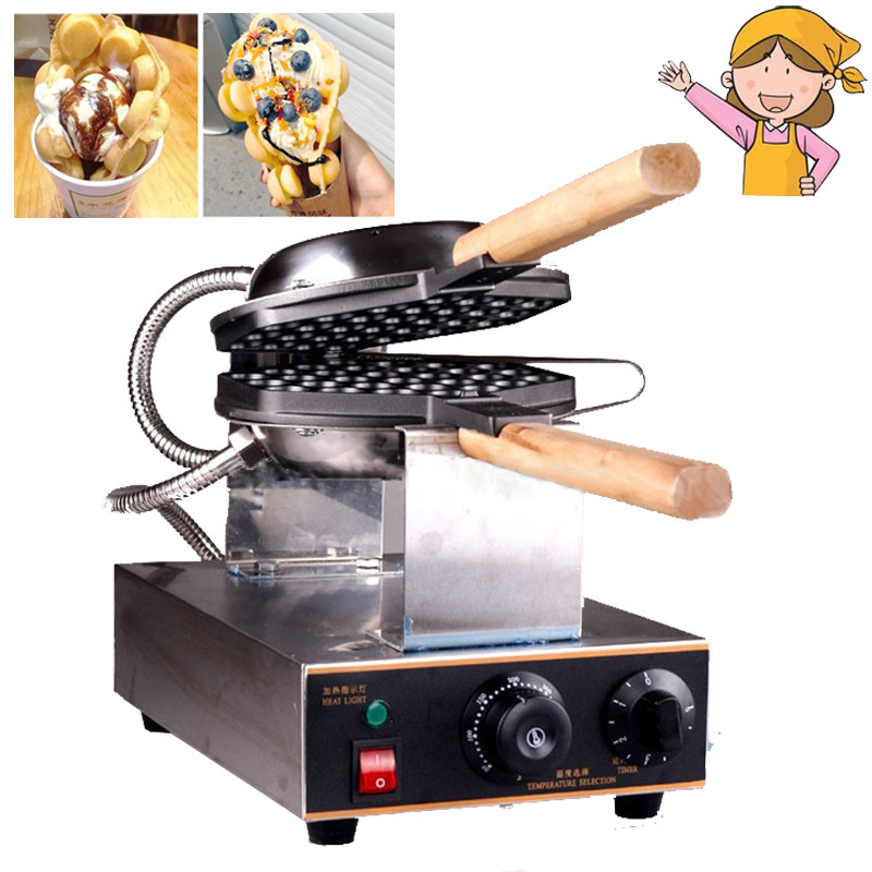 High Quality Hong Kong Eggettes Waffle Maker Small Household Electric Hot Dog Shaped Waffle Maker Cake Maker high quality stainless steel three slices electric fish shaped waffle maker machine