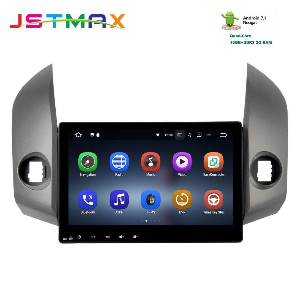 JSTMAX 10,2 Android 7.1GPS навигационное радио для Toyota RAV4 09 12 2DIN стереонаушники Broswer головное устройство Бесплатная карта hdmi видеовыход