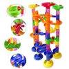 New Arrival 105pcs DIY Construction Marble Race Run Maze Balls Track Plastic House Building Blocks Toys