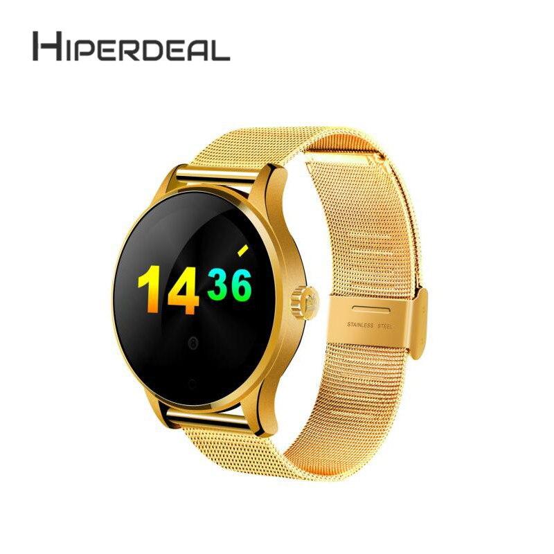 цена на HIPERDEAL K88H MTK2502C Bluetooth Smart Watch Heart Rate Track Wristwatch Stainless Steel Fitness Tracker Smart Band Wrist 1Sp8