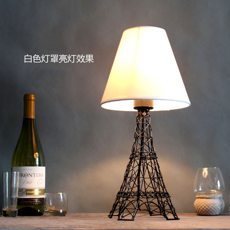 TUDA 20X43cm Free Shipping Creative European Eiffel Tower Iron Art Table Lamp Modern Creative Home Decoration Table Lamp E27 european creative sheep goat side table nordic style log home furnishing decoration hotel restaurant bar decor free shipping