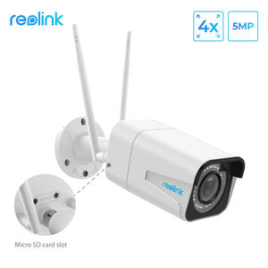 Reolink Security-Camera Sd-Card Night-Vision 4x-Optical-Zoom Bullet-Wifi 5MP Slot HD