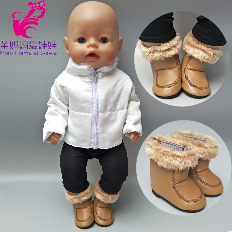 Fits 43cm Baby Doll Clothes Winter Down Jacket For 18 Inch Girl Doll Down Coat Children Doll Toys Wear