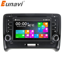 купить Eunavi 2 Din 7'' Car DVD Player GPS Navigation For Audi TT 2006-2014 Stereo Video with steer wheel control touch screen USB MIC дешево