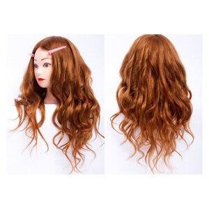 волосы для кукол 60 см 100% настоящие человеческие волосы голова манекена косметология парикмахерские куклы головы прическа голова манекена
