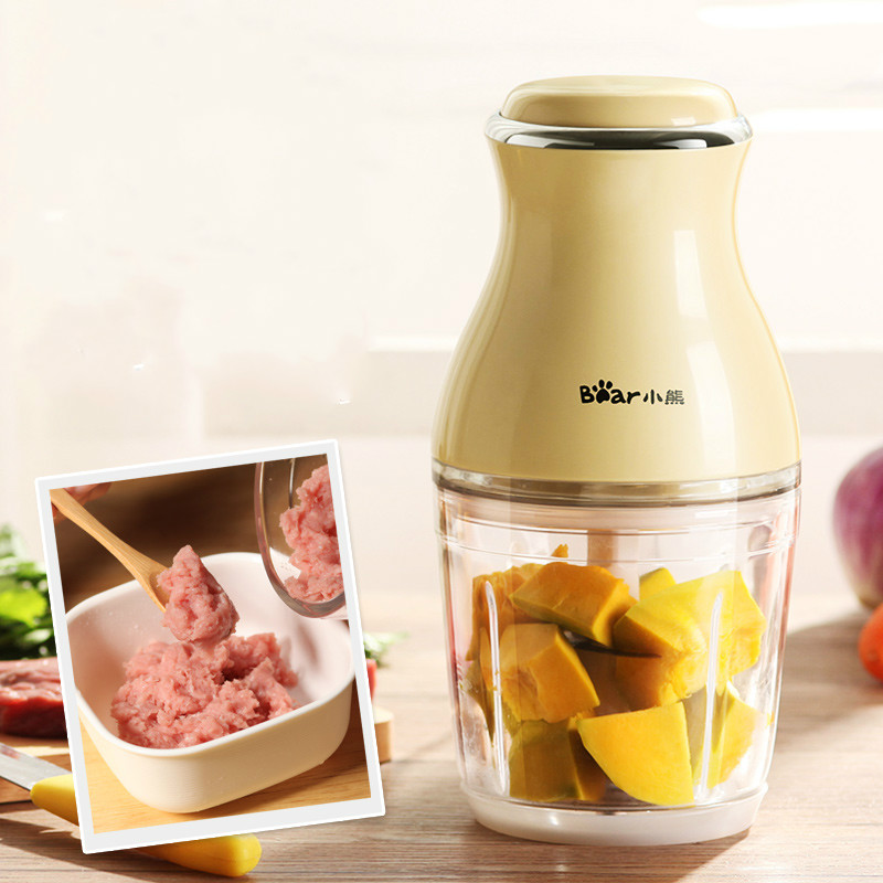 Bear Portable Mini Electric Meat Grinders 0.6L 200W Thickened Glass Baby Food Machine Juicers Blenders Mixers