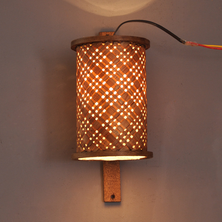 Southeast Asian Style Hotel Club Bamboo Wall Lamp Aisle Corridor Courtyard Decorative Sconce Whole 4061 In Lamps From Lights Lighting On