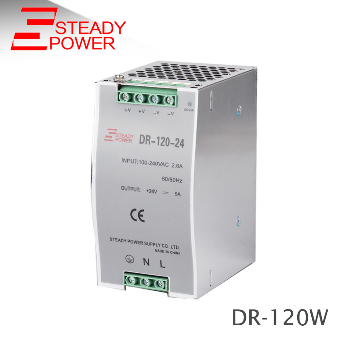 (DR-120-24) Single Output Din Rail LED Power Supply Transformer DC 24V 5A Output  constant voltage 120w din rail экран для видеопроектора draper luma hdtv 7 mw white сase 127x169