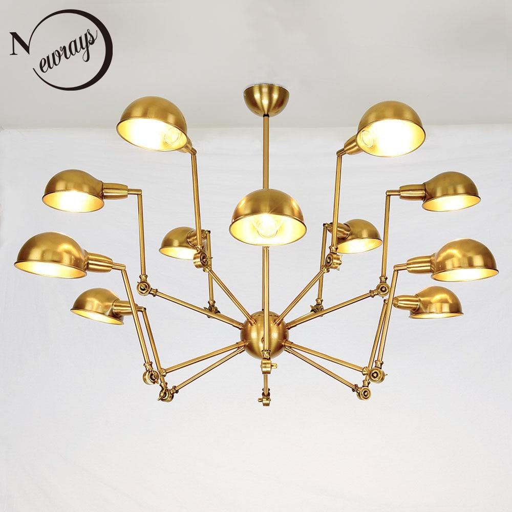 Pendentif lumineux LED araignée créative E27 loft vintage doré suspension pour salon chambre hôtel restaurant hall cuisine