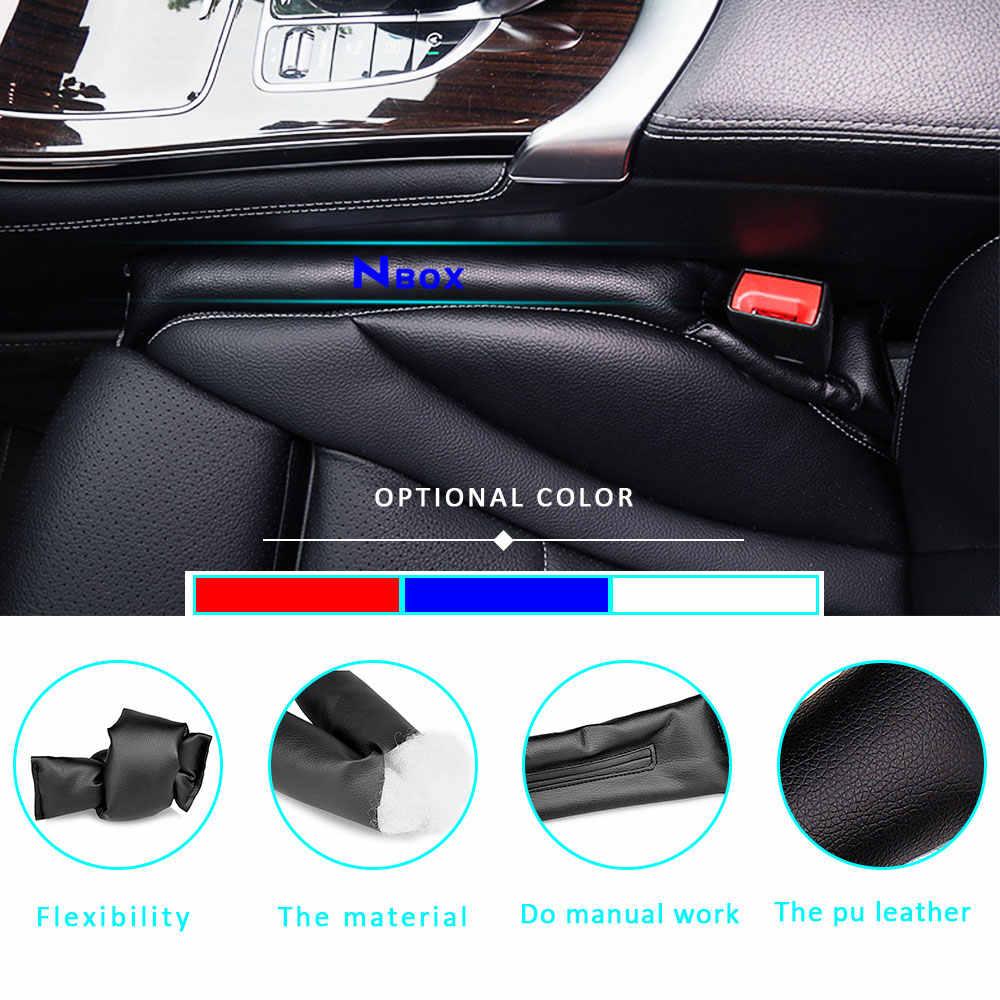 for Kia Forte Car Seat Gap Filler Pad PU Leather Crevice Gap Stopper Protector Cushion Filler Slot Plug Prevent Fall 2Pcs Blue