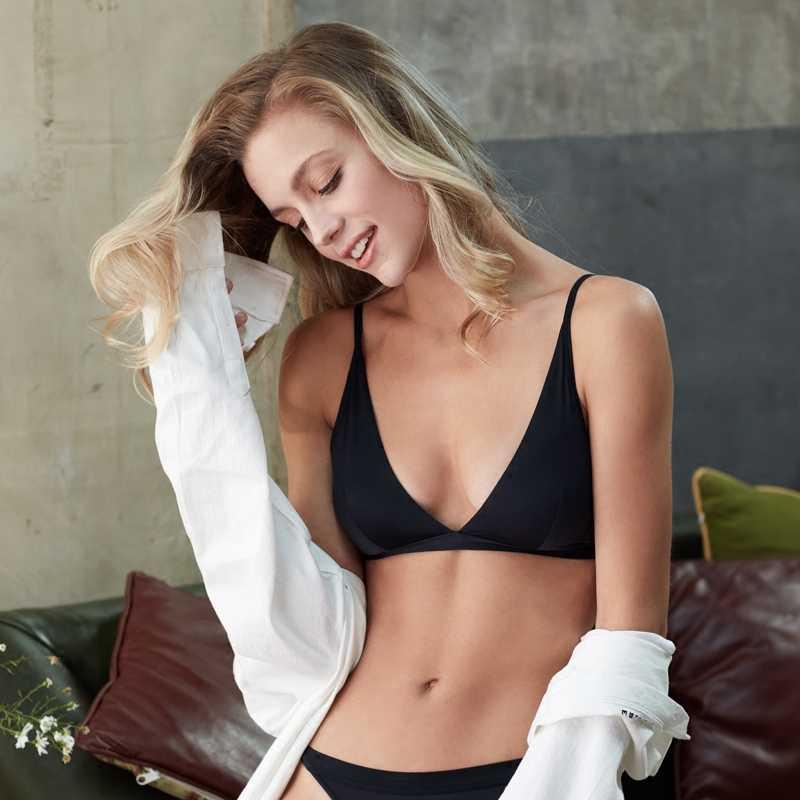 2867eaabff9 ... Women New Lingerie Ultrathin Bralette Seamless Sexy Bra Soft Cup Halter  Across Bikini Comfortable Brassiere Triangle ...