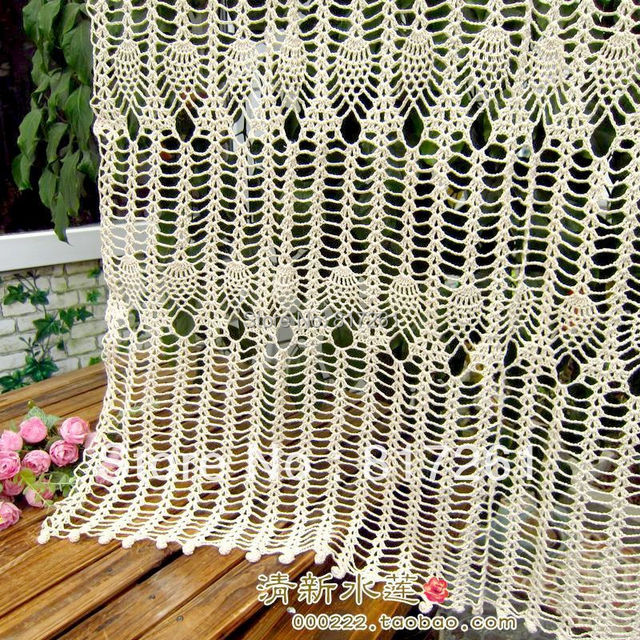 Free Shipping 2017 New Z Cotton Crochet Lace Door Curtain For Home Decoration Fashion Coffee Table