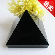 afa880329+++Natural obsidian pyramid home office ornaments town house from evil spirits(China)