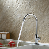 JOOE High Quality Brass Kitchen Faucet Chrome Polished Water Grifo Cold And Hot Water Kitchen Tap
