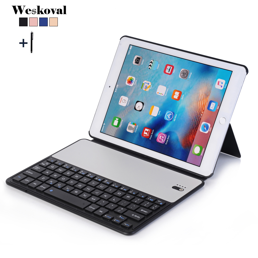 For iPad 2018 Wireless Bluetooth Keyboard Case For iPad 9.7 inch 2017 Tablet Flip Stand Cover For iPad Air 2 Air 1 Fundas+Pen for ipad air 1 case with keyboard wireless bluetooth keyboard abs plastic stand protective bluetooth keyboard for ipad 5