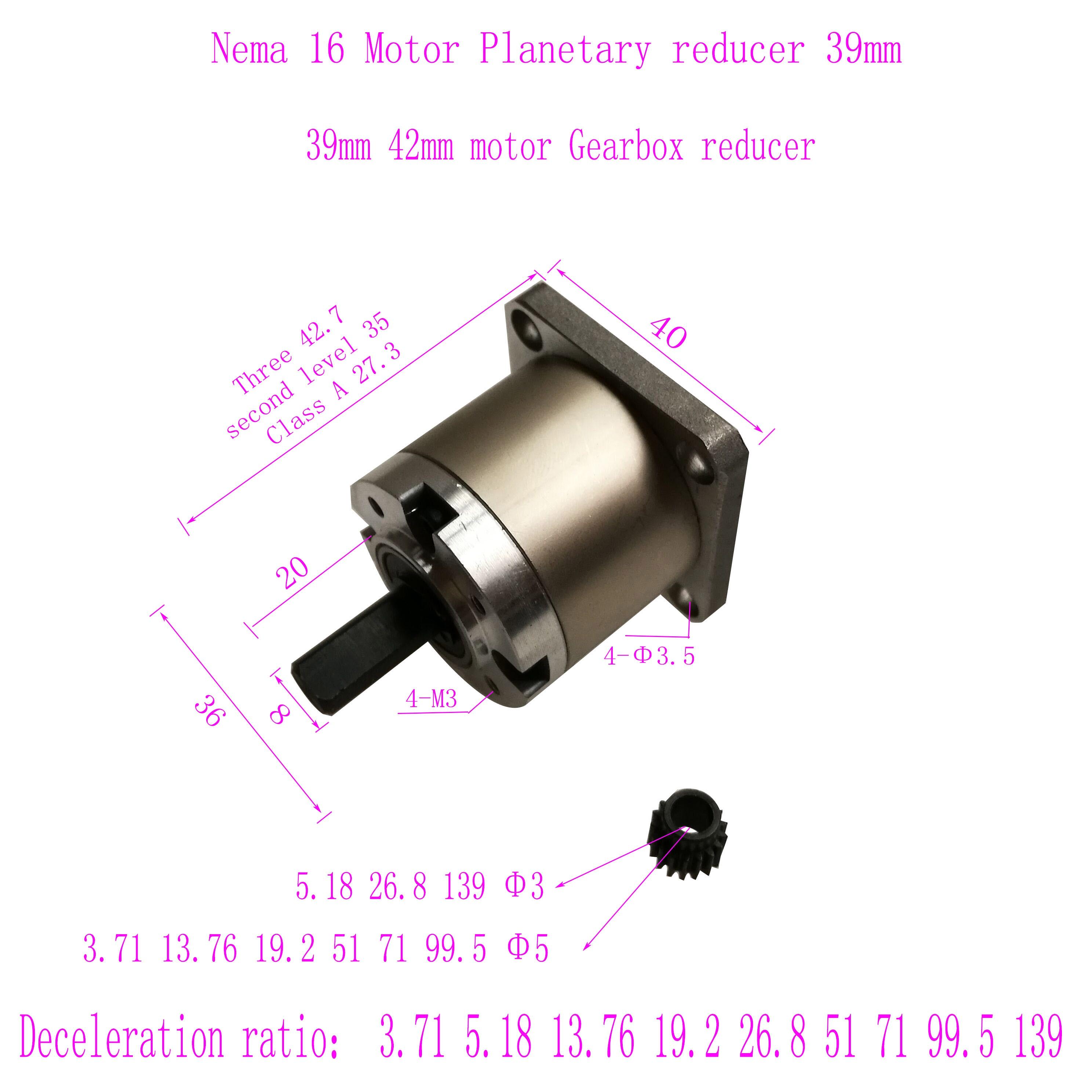 39/42 планетарный редуктор коробка передач 42 Шаговый Мотор редуктор NEMA17 планетарный редуктор коробка Коробки передач      АлиЭкспресс