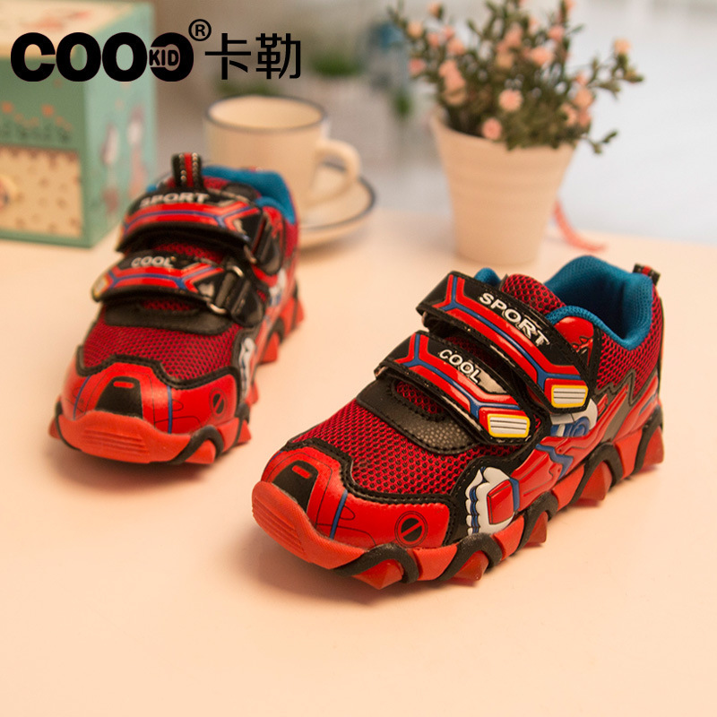 Childrens Shoes 2016 New Spring Autumn Iron Man Flasher Fashion Sports Sneakers For Kids Boy Shoes Boys Size 26-31