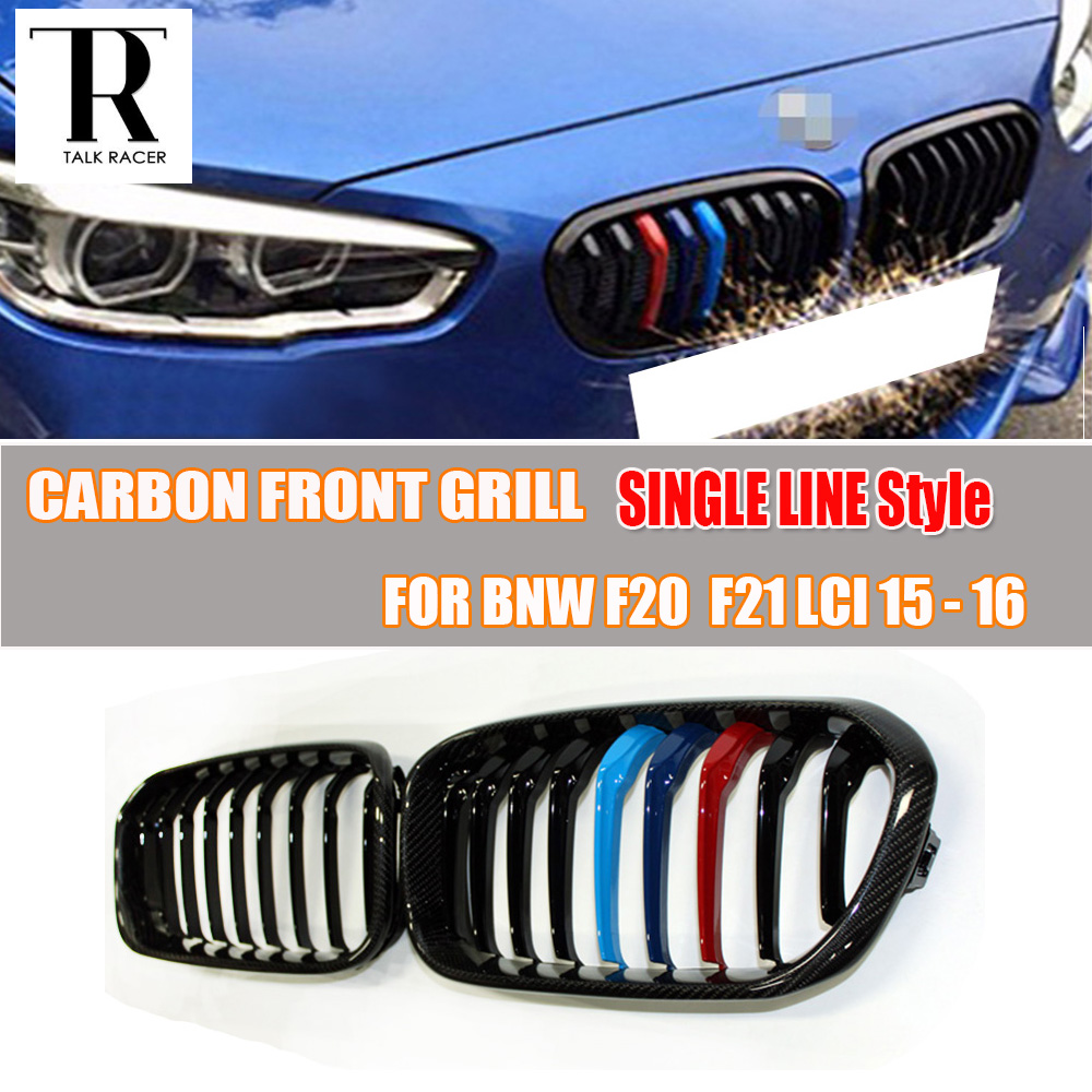 F20 F21 LCI Carbon Fiber Front Bumper Mesh Grill Grille for BMW F20 F21 LCI 2015 2016 Only