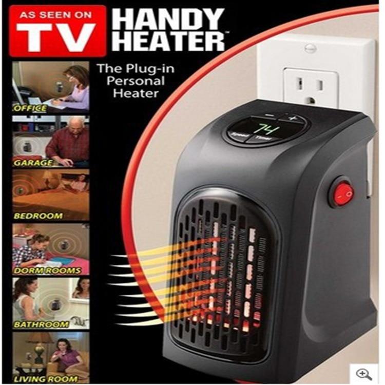 TV Handliche Heizung Tragbare Wand-Outlet/Edelstahl Herd Hand Wärmer Elektrische Heißer Gebläse Zimmer Fan Kühler Wärmer 400 watt