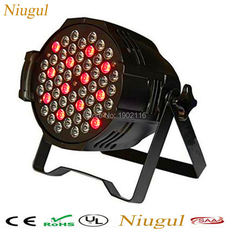 купить Niugul led par light rgbw 54x3W Stage Light KTV DJ Disco lighting DMX512 Strobe party wedding event holiday lights wash effect дешево
