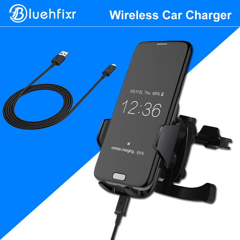 bluehfixr quick charge qi wireless car charger for samsung. Black Bedroom Furniture Sets. Home Design Ideas