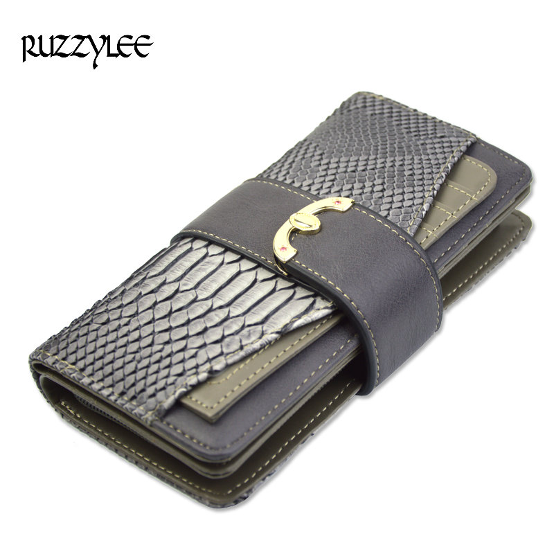 New Crocodile Leather Purses Women Wallets Luxury Hasp Long Retro Zipper Woman Purse Female Wallet Cell Phone Clutch Card Holder 2016 luxury women wallets genuine leather crocodile purses business wallets for woman shinning money cash bag card holder clutch