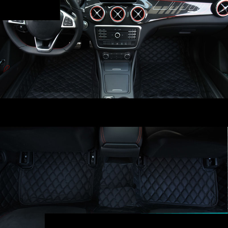 lsrtw2017 leather car floor mat for mercedes benz A180 A200 A260 A45 AMG 2013 2014 2015 2016 2017 2018 W176 rug carpet styling in Floor Mats from Automobiles Motorcycles