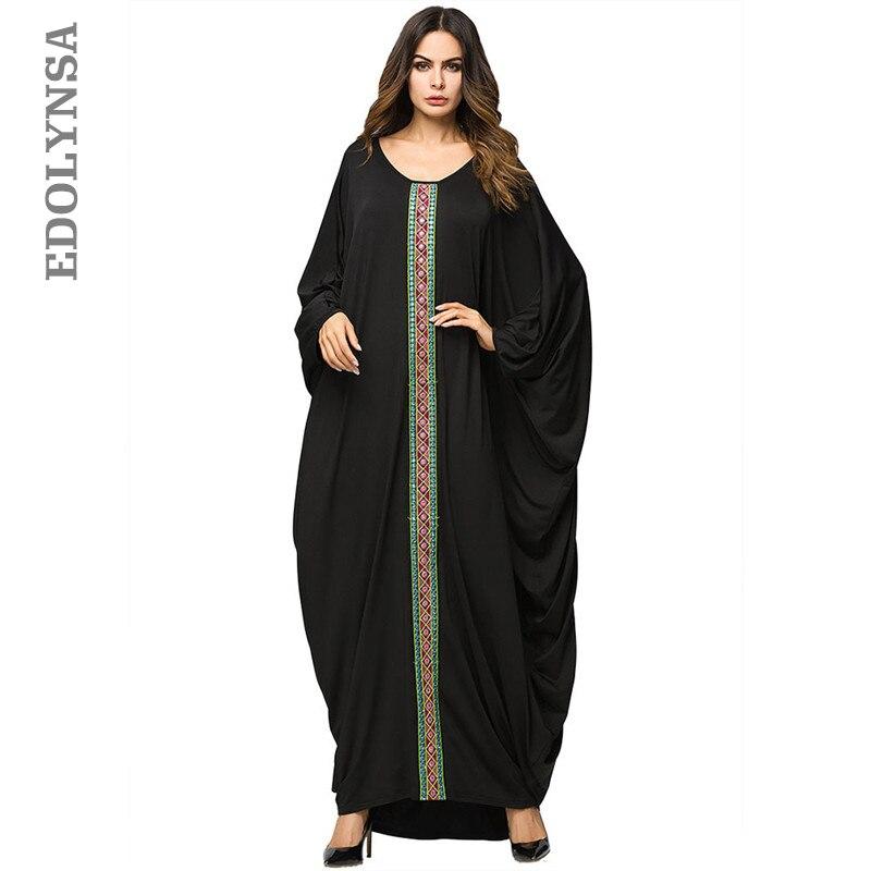 Detail Feedback Questions about Dubai Caftan Embroidered Tape Trim  Symmetric Batwing Sleeve Oversized Turkish Arabic Moroccan Kaftan Muslim  Dress Abaya D504 ... d445e99de64d