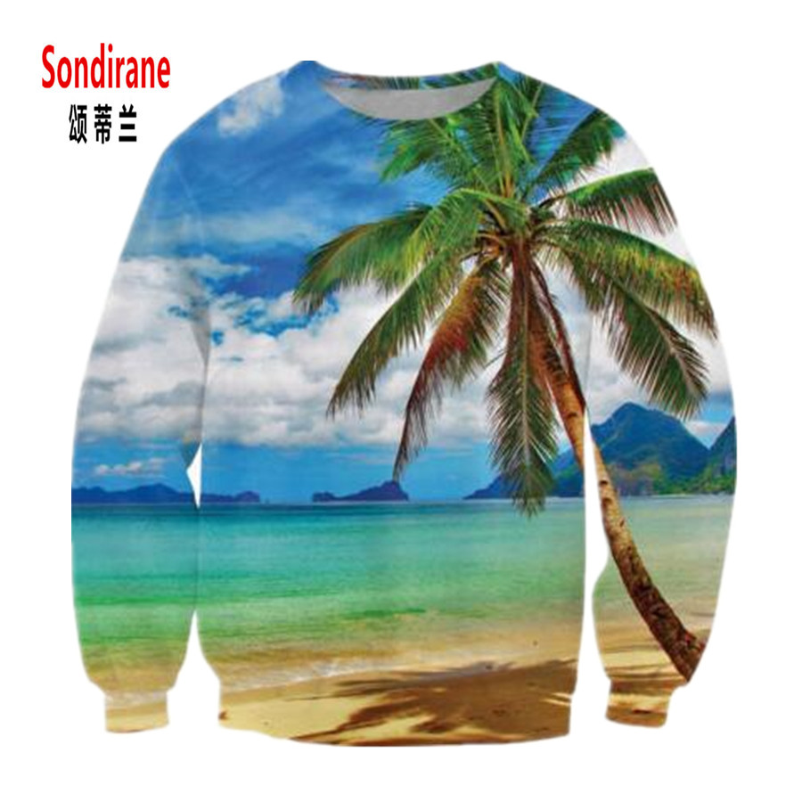 c6cd9a064d Sondirane Cool Design 3D Print Graphic Beach Coconut Tree ...