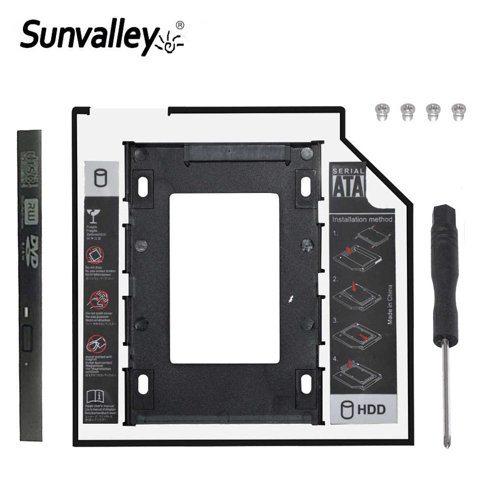 "Sunvalley nowy 12.7mm uniwersalny 2nd HDD Caddy 2.5 ""dysk SSD dysk twardy SATA 3.0 do notebooka laptopa"