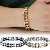 Fashion Men Jewelry Titanium Stainless Steel Bracelet Classic Biker Chain Bangle Gifts M23