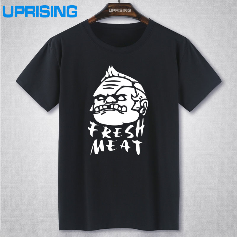 Summer New Dota 2 Fresh Meat T Shirts Men Bodybuilding Man Clothing O Neck Short Sleeve Cotton Tshirt Casual Camisetas Freepost