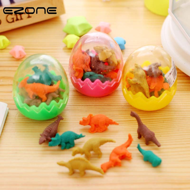 Pens, Pencils & Writing Supplies Temperate Ezone Funny Sale 6pcs One Egg Novelty Mini Cut Dinosaur Egg Pencil Rubber Eraser With Egg For Erasers Students Stationary Gift Exquisite Craftsmanship;