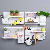 1PC Wall Mount Storage Rack Cups Storage Rack Plastic Shelf Sponge Hanging Wall Holder Kitchen Seasoning Shelves A20