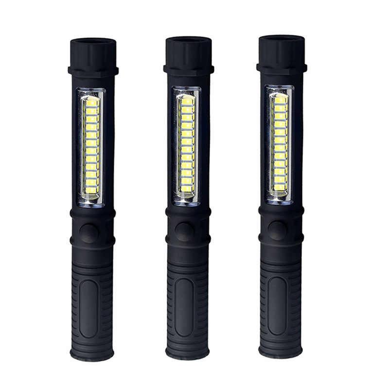 Puissant COB Mini lampe de poche LED Portable Inspection de travail Torches multifonction stylo torche lumière avec lampe extérieure magnétique
