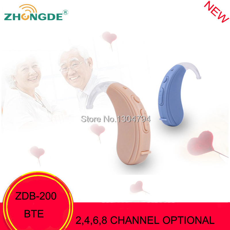2017NEWEST!ZDB-200 ZhongDe 2,4 ,6,8 Channels  Bte mini Hearing Aids Digital Wireless Hearing aid Sound Amplifiers  Deafness Ear acosound invisible cic hearing aid digital hearing aids programmable sound amplifiers ear care tools hearing device 210if