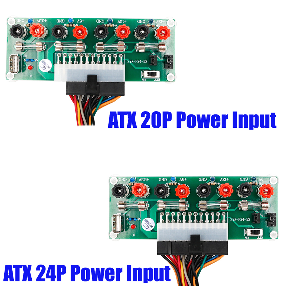 Image 3 - 2018 20/24Pins ATX Benchtop Power Board PC Computer Breakout Adapter Switch Module-in Computer Cables & Connectors from Computer & Office