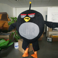 Ohlees Cheap Actual Picture Ohlees High Quality Rage Birld Black Mascot Costume Factory Direct Wholesale Easter