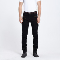 Green Black Destroyed Mens Slim Denim Straight Skinny Jeans Men Ripped Jeans Small Trousers Male Casual