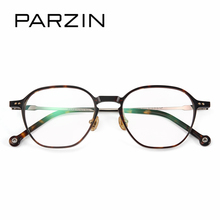 fe34cbe86cb PARZIN Classic Square Metal Optics Frame For Women High Quality Prescription  Eyeglass Frames With Clear Lens
