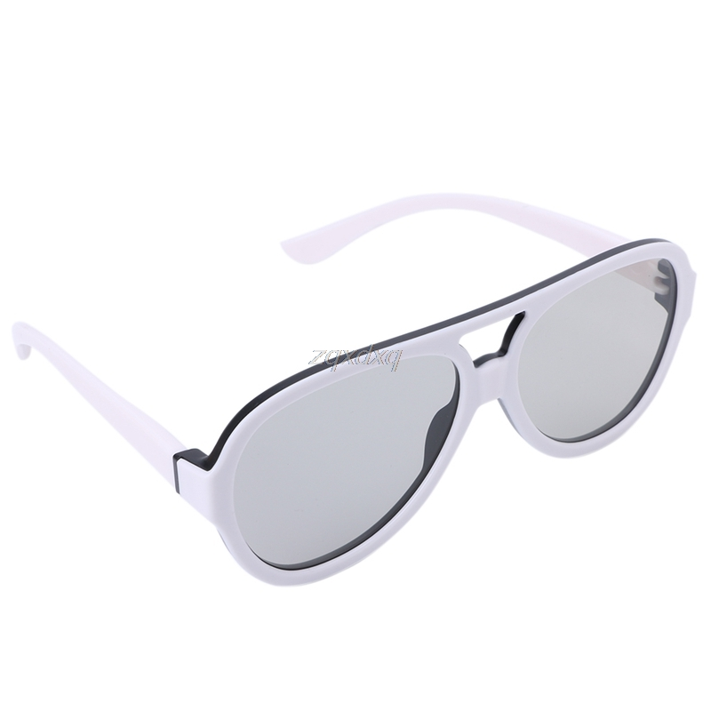 Universal Circular Passive Polarized 3D Glasses For TV Real 3D Cinema 0.42mm Drop Ship Electronics Stocks